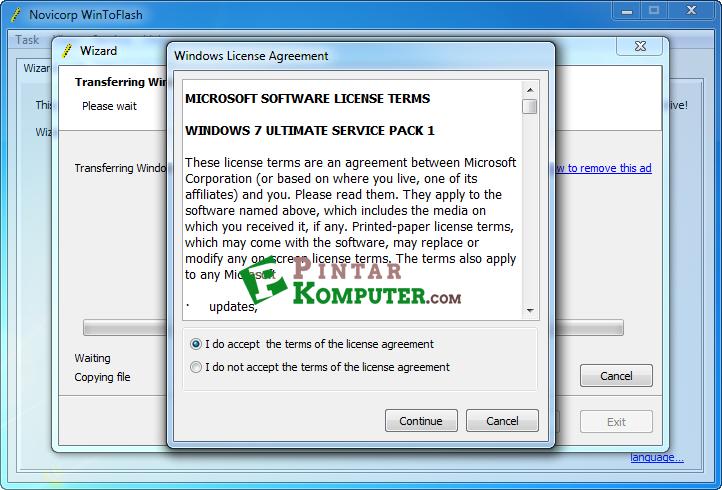 Cara Membuat Bootable Flashdisk Windows 7 Menggunakan WinToFlash