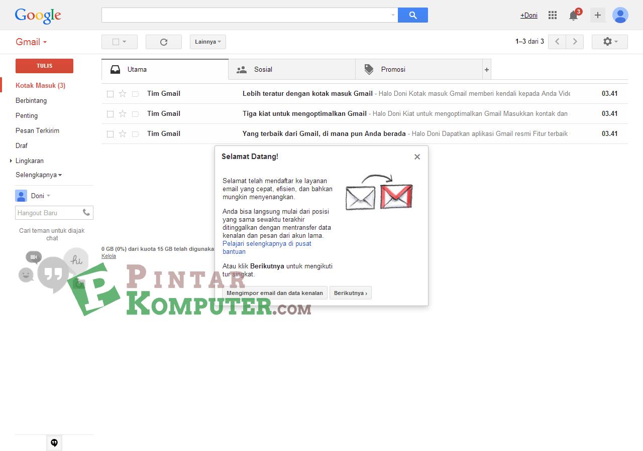Cara Membuat / Daftar Email Baru di Gmail