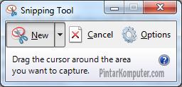 3 Cara Mudah Mengambil Screenshot di Windows 7 - Menggunakan Snipping Tool