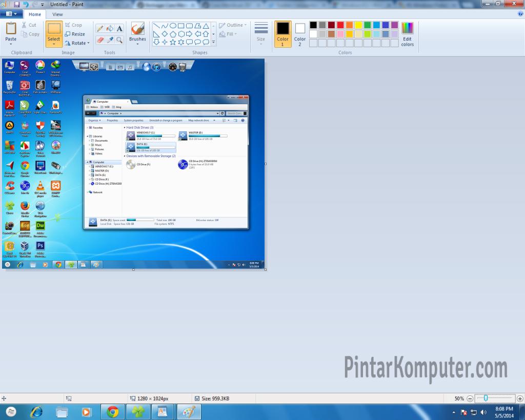 3 Cara Mudah Mengambil Screenshot di Windows 7 - menggunakan Alt + Prt Scr