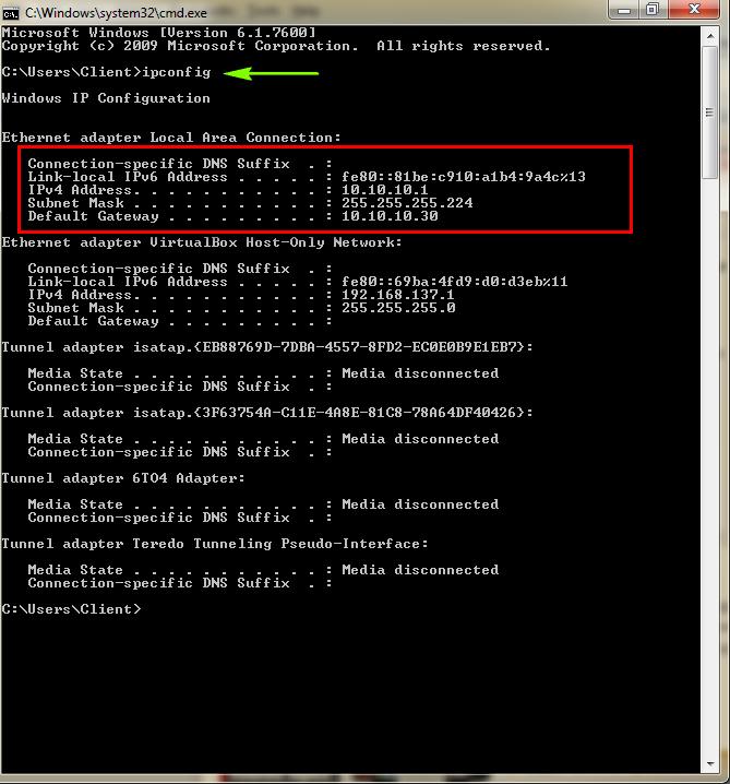 Cara Melihat dan Mengtahui IP Address Pada Komputer - melalui cmd