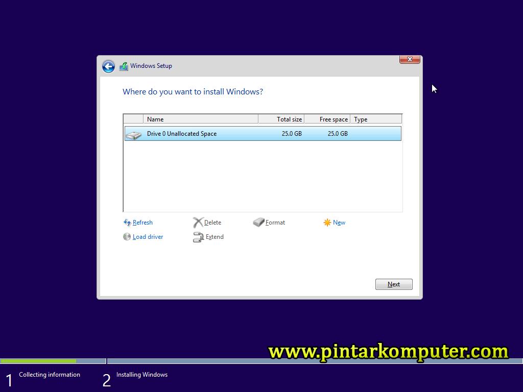 Pintar Komputer - Cara install Windows 8.1