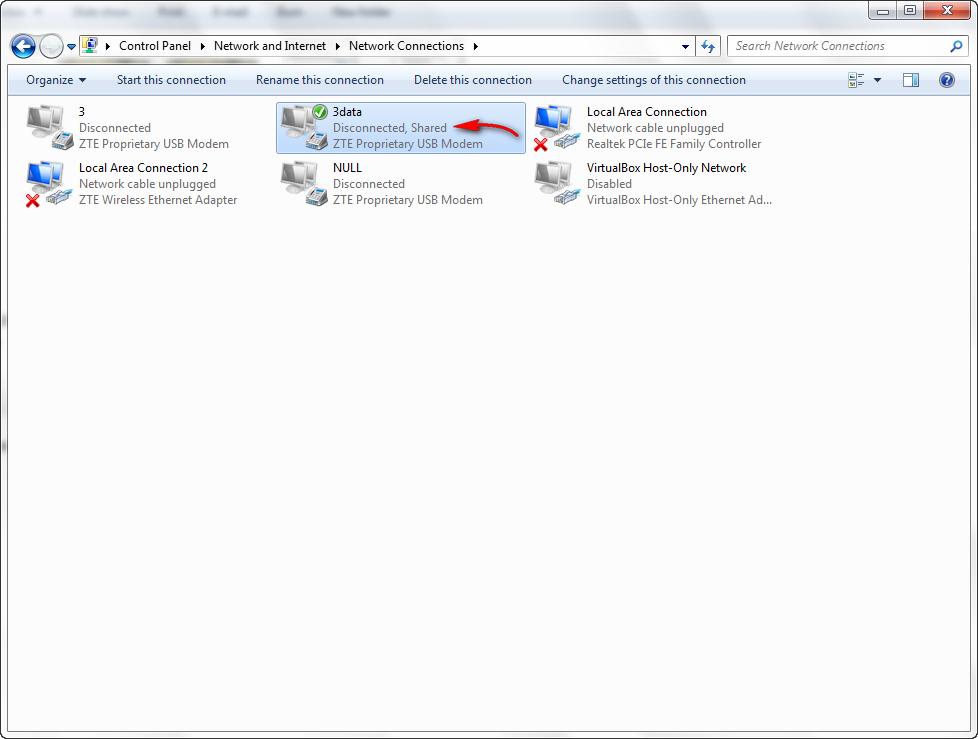 Cara Mudah Sharing Internet Modem USB Melalui LAN