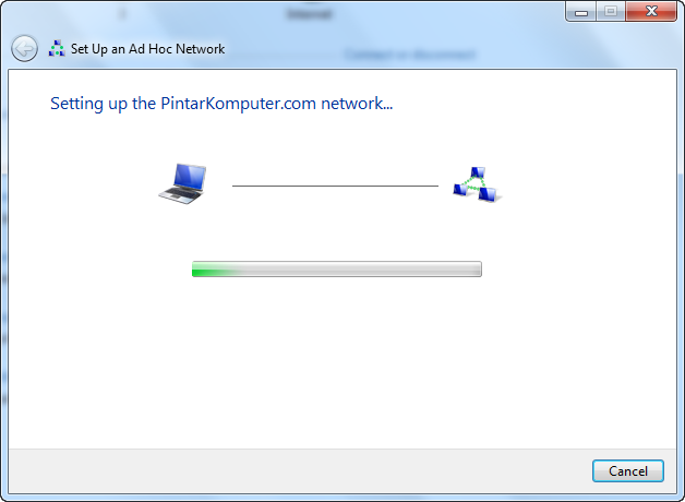 Panduan Membuat Jairngan Peer to Peer di Windows 7 Dengan Wifi Adapter Laptop