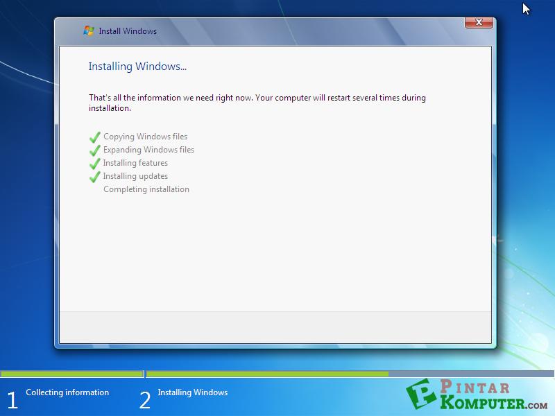 proses installing updates