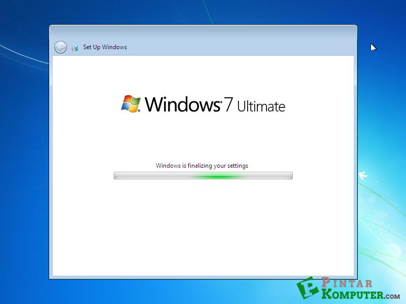 Windows is finallizing your setting