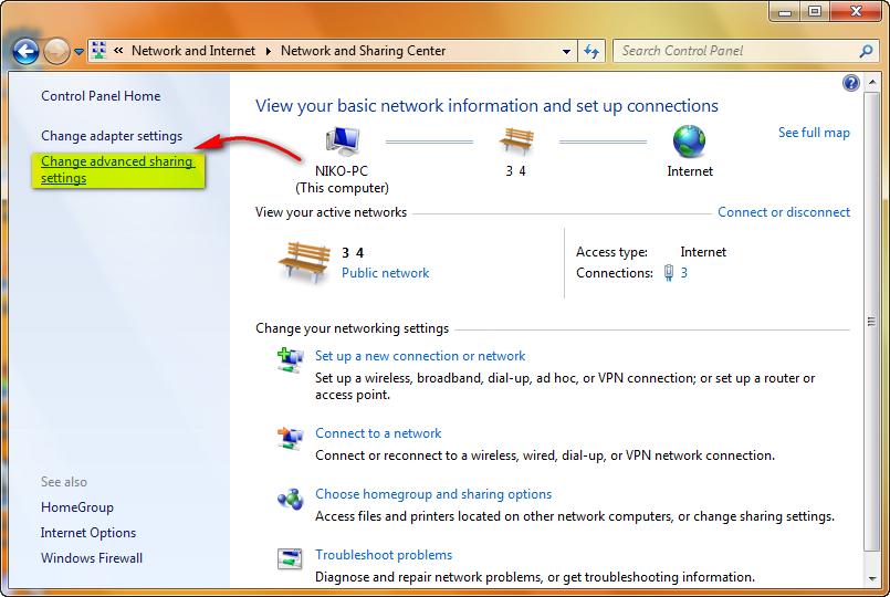 Cara Mengaktifkan Fitur File and Printer Sharing Pada Windows 7