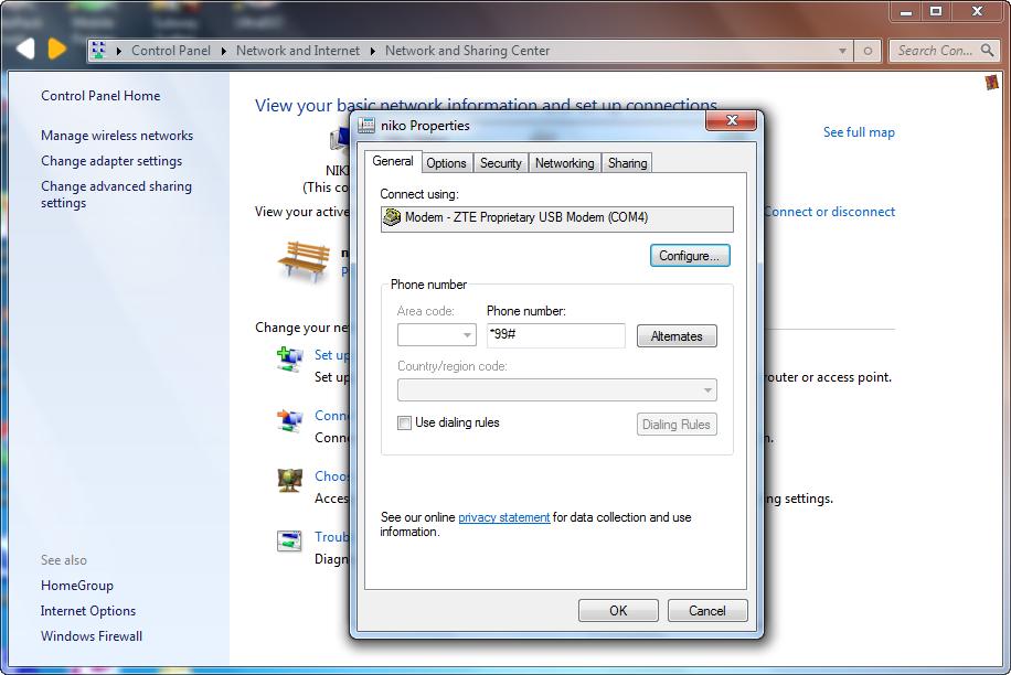 Cara Mudah Sharing Koneksi Internet Modem USB Melalui Wifi Laptop (AdHoc)