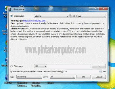Membuat Bootable Linux Di Flahsdisk Menggunakan Software UNetBootin