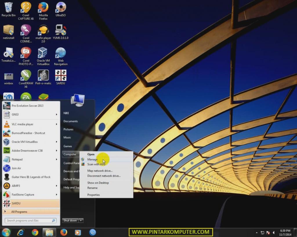 Pintar Komputer - Cara Membuat Partisi Baru Tanpa Menghapus Data (Shrink Volume) di Windows 7
