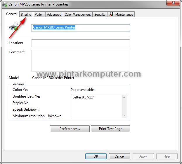 Cara Mudah Sharing Printer di Windows 7 Melalui Jaringan LAN / Wifi