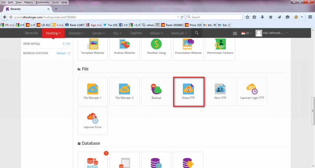 Cara Upload File Web Melalui FTP - Cpanel IDHostinger
