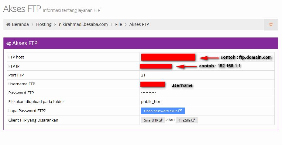 Cara Upload File Web Melalui FTP - Akun FTP
