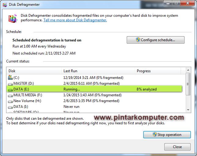 Cara melakukan Defrag Disk di Windows 7