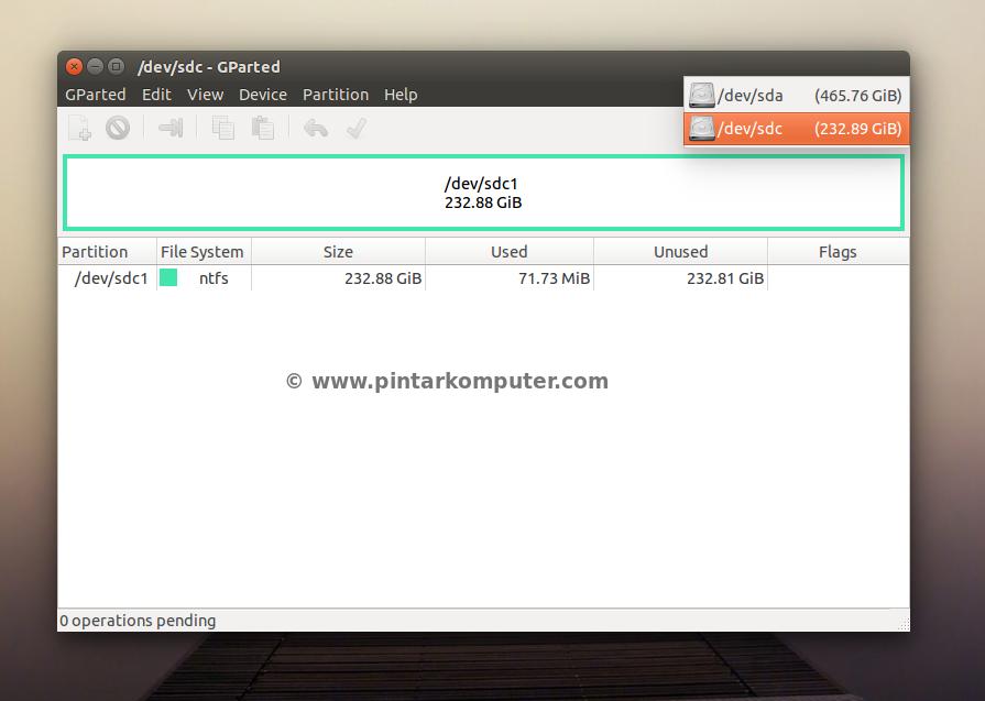"""Cara Membuat, Menghapus, dan Format Partisi Hardisk di Ubuntu Menggunakan """"GParted"""""""