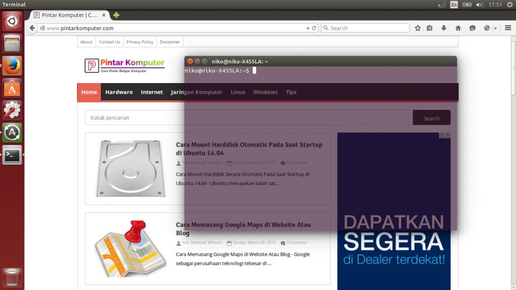 Cara Sederhana Merubah Background Terminal Linux Ubuntu Menjadi Transparan