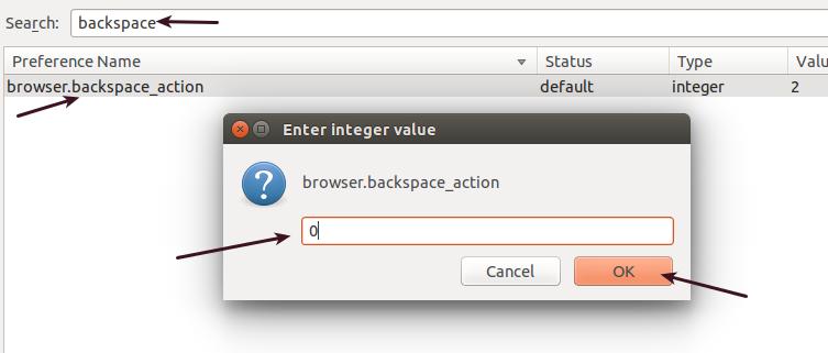 """Cara Mengaktifkan Fungsi Tombol """"Backspace"""" Pada Firefox di Linux Ubuntu"""