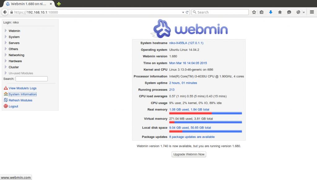 Cara Mudah Install Webmin di Linux Ubuntu Server