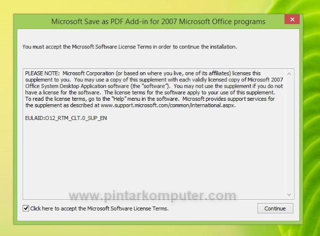 Cara Convert Dokumen Word ke Format PDF Langsung Melalui Office Word 2007