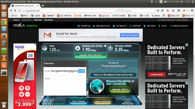 Cara Test / Cek Kecepatan Akses Jaringan Internet Anda