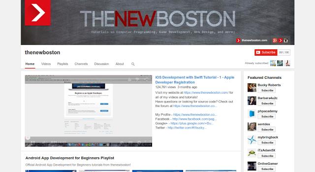 Rekomendasi 6 Channel Youtube Bagi Para Programmers