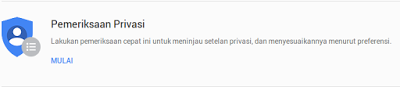 Privasi My Account