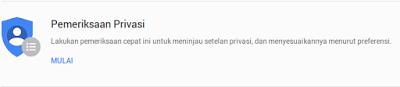 Privasi My Account