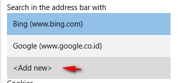 Cara Mengubah Search Engine Default di Browser Microsoft Edge