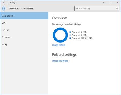 Cara Memonitor Penggunaan Data Network Anda Pada Windows 10