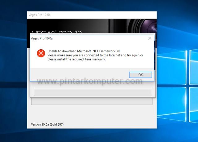 cara install microsoft .net framework 3.5 di windows 10