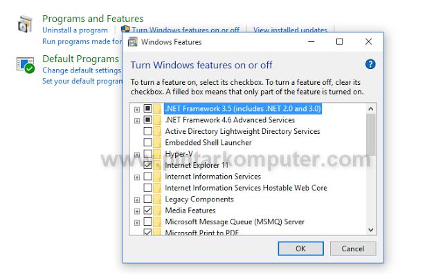 Cara Mengaktifkan .NET Framework 3.5 Pada Windows 10 Secara Offline Menggunakan DVD Installer