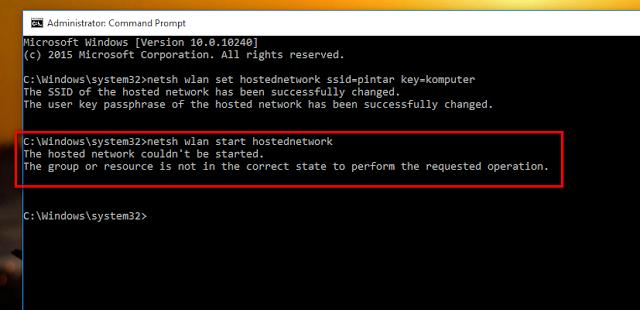 Cara Mengatasi Error Saat Menjalankan Hosted Network Ketika Ingin Membuat WiFi Hotspot Pada Windows 8, 8.1, dan 10