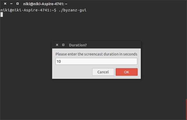 Cara Merekan Layar Menjadi GIF Di Ubuntu Dengan Byzanz