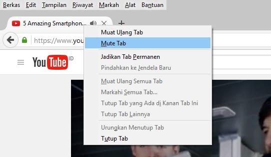 Cara Mematikan Suara'Mute' Pada Salah Satu Tab Browser di Chrome, Firefox, dan Safari