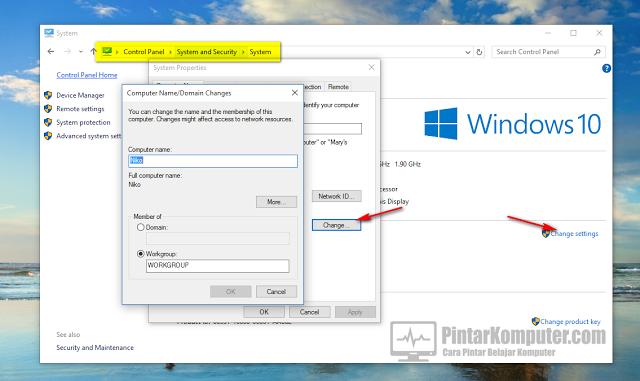 2 Cara Mudah Mengganti Nama Komputer Anda di Pada Windows 10