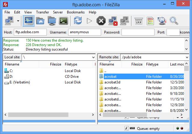filezilla interface