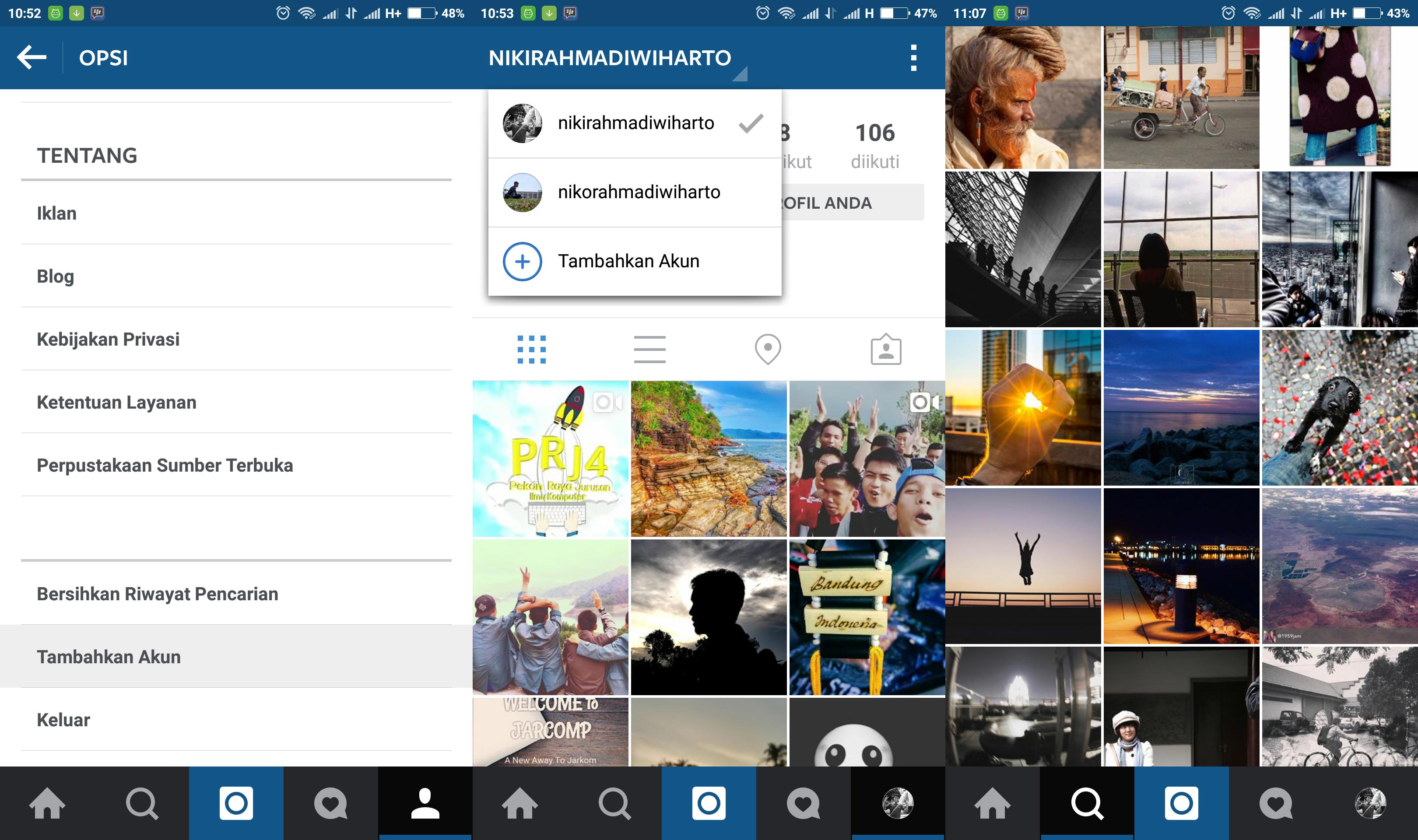 multiple account instagram