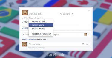 posting facebook multi bahasa