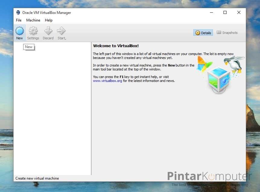cara install linux di virtualbox