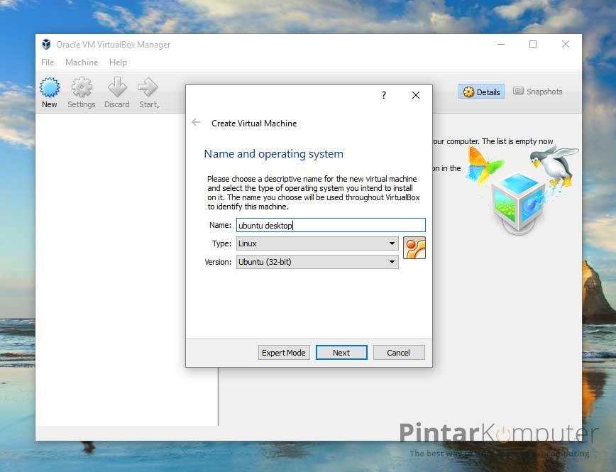 Cara Install Linux Ubuntu di VirtualBox (2)