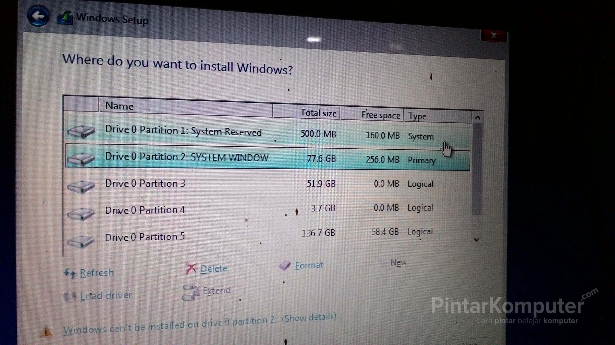 [Panduan Pemula] Cara yang Benar Membagi Partisi Hardisk Saat Menginstall Windows (7, 8, 10) (1)