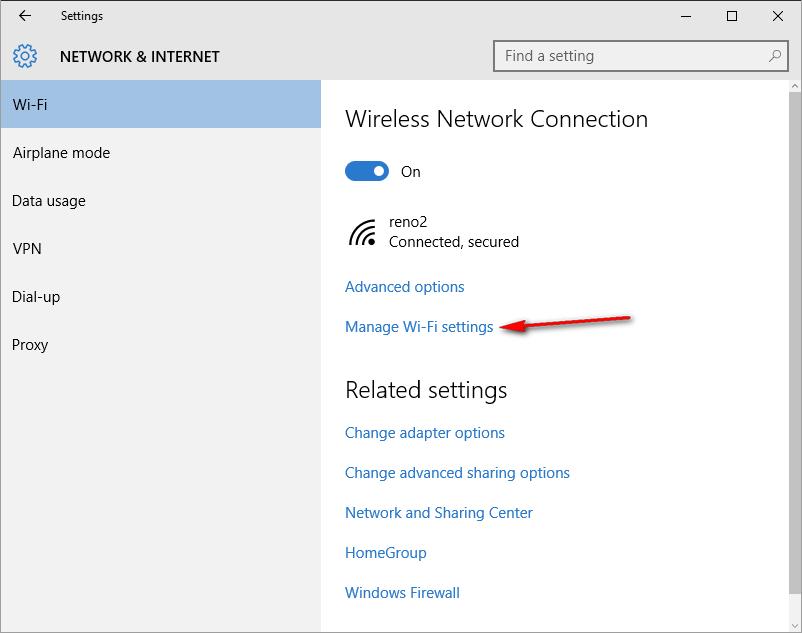 cara menghapus wifi tersimpan 1