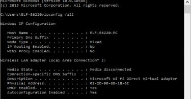 cek mac address via cmd