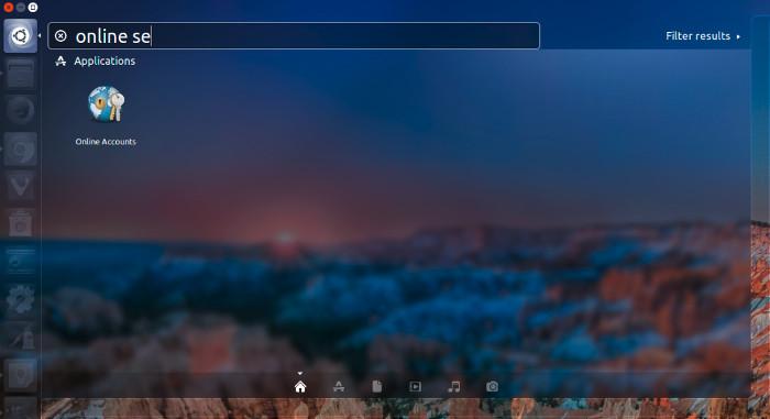 online search disable ubuntu 16.04