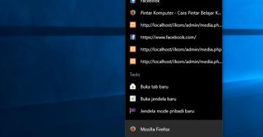 recent file list windows 10 taskbar