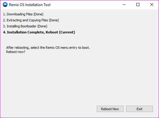 install-remix-os-player-tool-finish