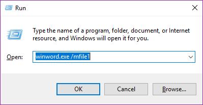 membuka recent dokumen word menggunakan jendela run