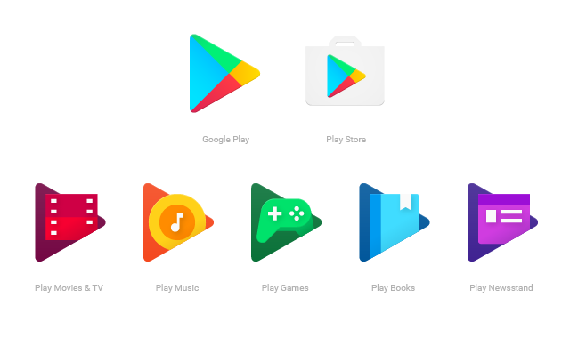 google play store suite icons