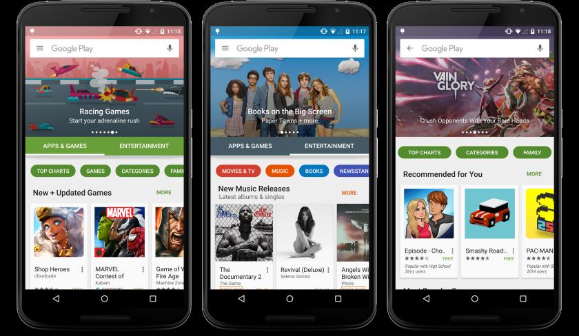 Play Store UI