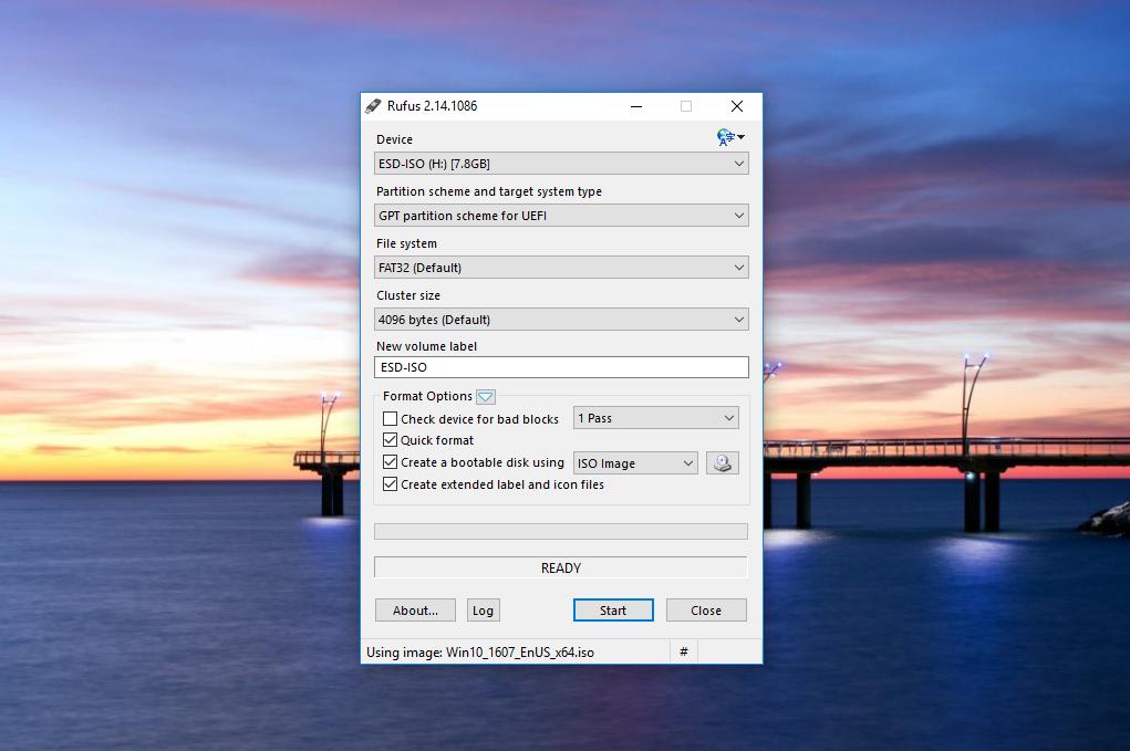 Membuat Bootable USB UEFI dan GPT Partition Windows 10 dengan Rufus (2)